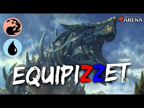 EquipIzzet [MTG Arena] | Red-Blue Legendary Equipment Deck in GRN Standard