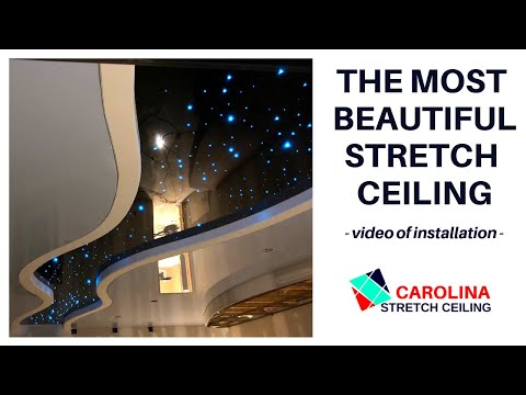 basement-ceiling-design---stretch-ceilings-with-starry-sky-system