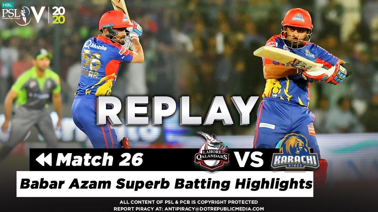 Babar Azam Superb Batting Highlights Against Lahore | Lahore vs Karachi | Match 26 | PSL 5