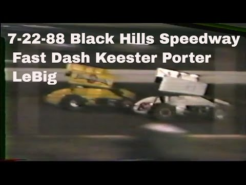 Black Hills Speedway  7 22 88 Sprint Fast Dash Porter LeBig roll