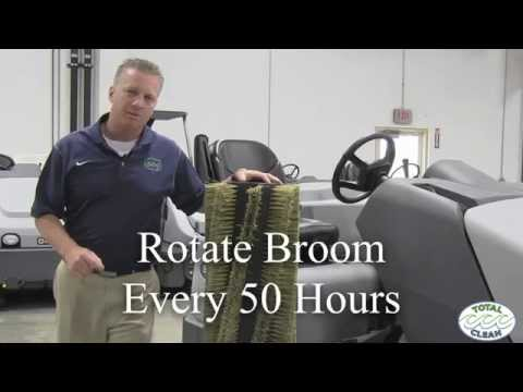 How to maintain your sweeper broom on your industrial sweeper in California by Total Clean