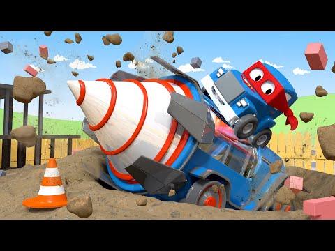 Carl de Super Vrachtwagen Nederlands ⍟  De gigantische boor  🚚 Autostad - Cartoons voor kinderen