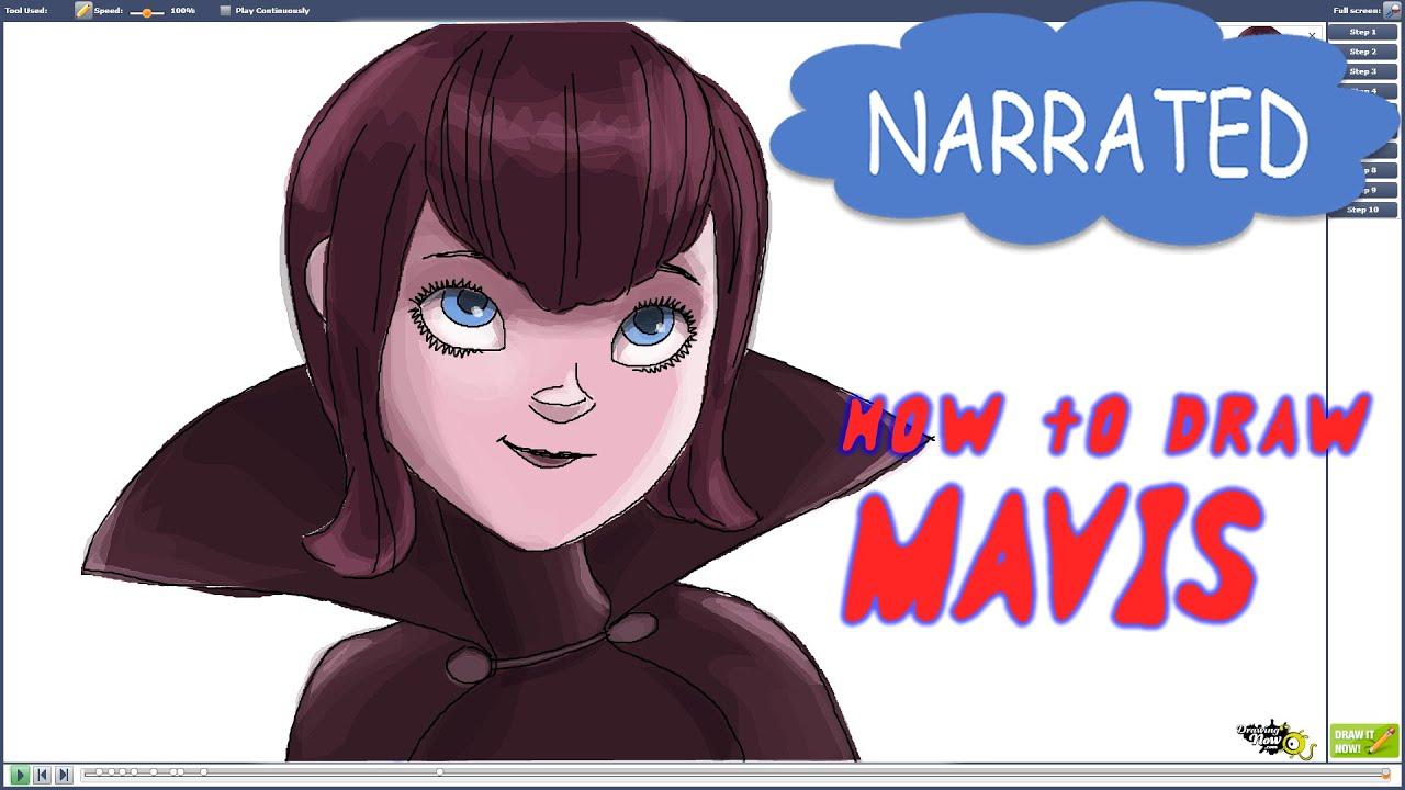 How to Draw Mavis From Hotel Transylvania