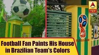 Football Fan Paints His House in Brazilian Team
