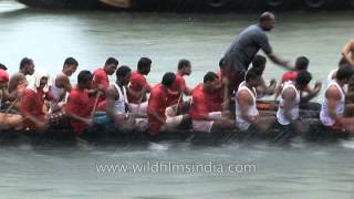 Traditional snake boat race in Kerala