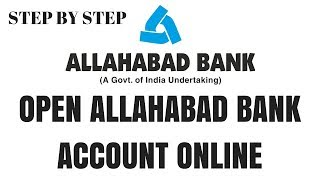 How to open allahabad bank account online | Allahabad bank account opening form | Allhabad account