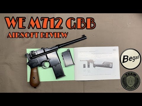 WE M712 MAUSER GBB Airsoft Review By TEAM-030-AIRSOFT