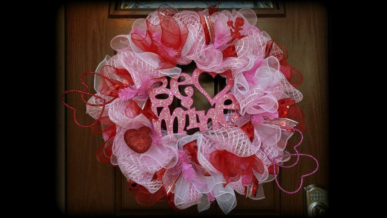 Valentine S Day Deco Mesh Wreath