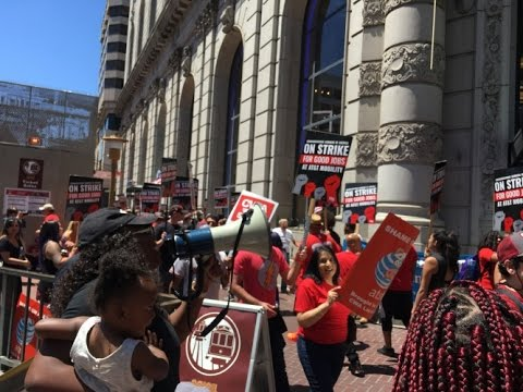 CWA AT&T Workers Shut It Down At Mobility In SF: $21K an Hour For CEO $16 An Hour For Workers