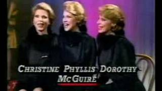 McGuire Sisters Announce comeback - 1984 - archival footage