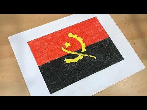 Angolan Flag Drawing 🇦🇴