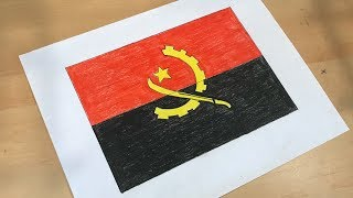 How to Draw the Angolan Flag | Flag Speed Draw