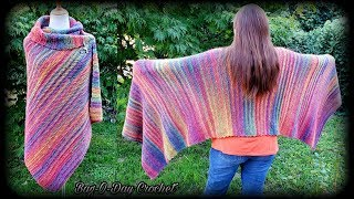 How To Crochet An Easy  Rectangle Shawl | A Night At The Opera | Bagoday Crochet Tutorial #631