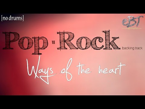 PopRock Backing Track in A Minor  65 bpm NO DRUMS