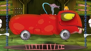 fire truck | car garage | Halloween for kids