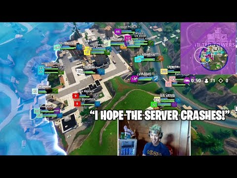 NINJA Hopes For Server Crash After 71 Pro Players In Titled Towers Last Circles.. (Fortnite Moments)