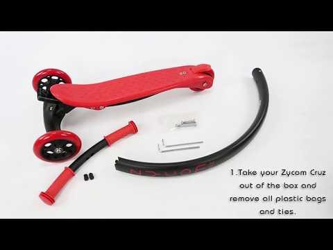Как собрать самокат Zycom Cruz C100