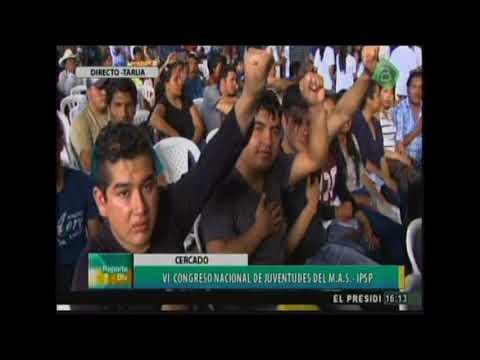 Evo Morales en el VI Congreso de Juventudes del MAS, llama a la batalla en Redes Sociales