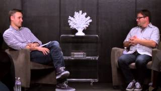 David Hornik fireside chat with Frank Gruber at Tech Cocktail Sessions TCWEEK Vegas - August 2014