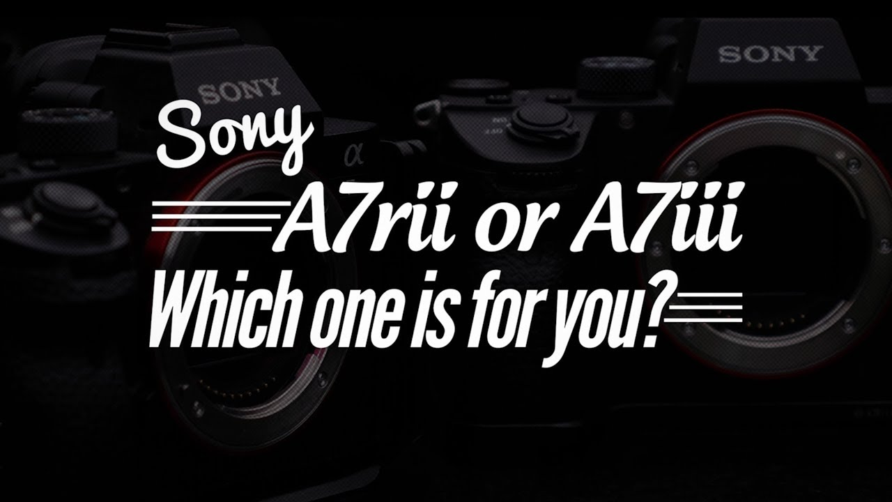 Sony A7rii vs A7iii, which one is for you? With downloadable RAW files from  both!