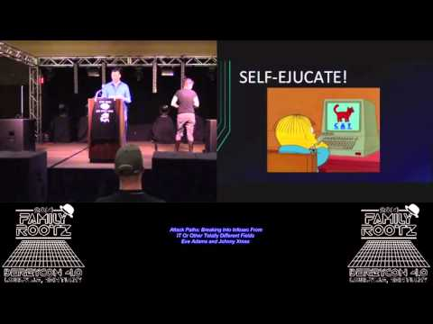 Attack Paths: Breaking Into Infosec  - Eve Adams and Johnny Xmas - DerbyCon 4.0