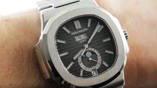 dca5b1028 Patek Philippe Nautilus Annual Calendar (5726/1A-001) Luxury Sports Watch  Review ...