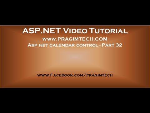 asp net calendar control part 32 youtube