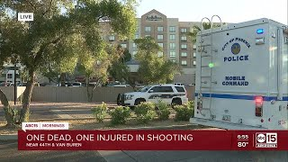 PD: Two shot at Phoenix hotel near 44th and Van Buren streets