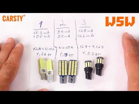 Тестируем Габаритные лампы W5W с AliExpress