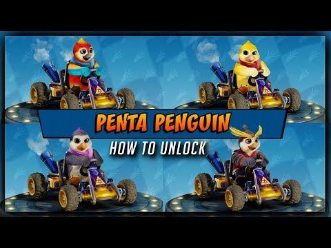 Crash Team Racing: Nitro Fueled - Penta Penquin SECRET CHARACTER - Unlock Code (PS4, Xbox, Switch)