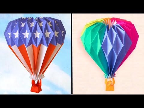 Origami Hot Air Balloon Tutorial - DIY paper craft | Paper Balloon | Origami Craft | Origami