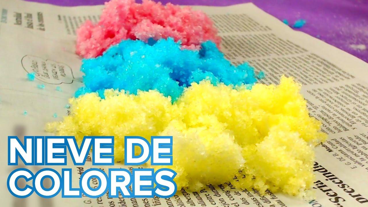 Nieve de colores | Experimentos de ciencia para niños