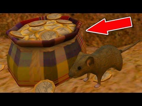 СИМУЛЯТОР МЫШИ #19 ОХОТИТСЯ ПАУК построили МЕШОЧЕК С ЗОЛОТОМ в Mouse Simulator