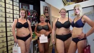 Models zeigen Damenunterwäsche für große Größen und große Cups
