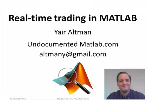 Realtime trading with MATLAB
