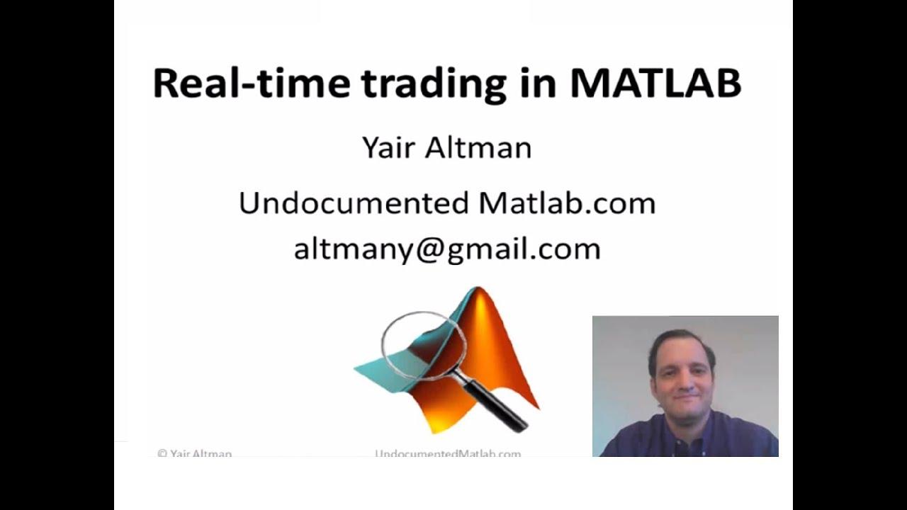 Trading system matlab