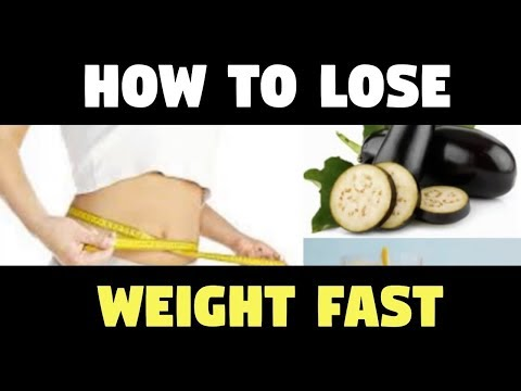 How To Lose Weight Fast and Easy AT HOME No Exercise with EGGPLANT AND LEMON WATER!!