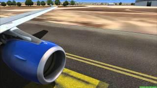 Flight Simulator X - AirbusX A321 Thomas Cook, landing at Palma De Mallorca (HD)