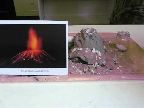 how to build a cinder cone volcano