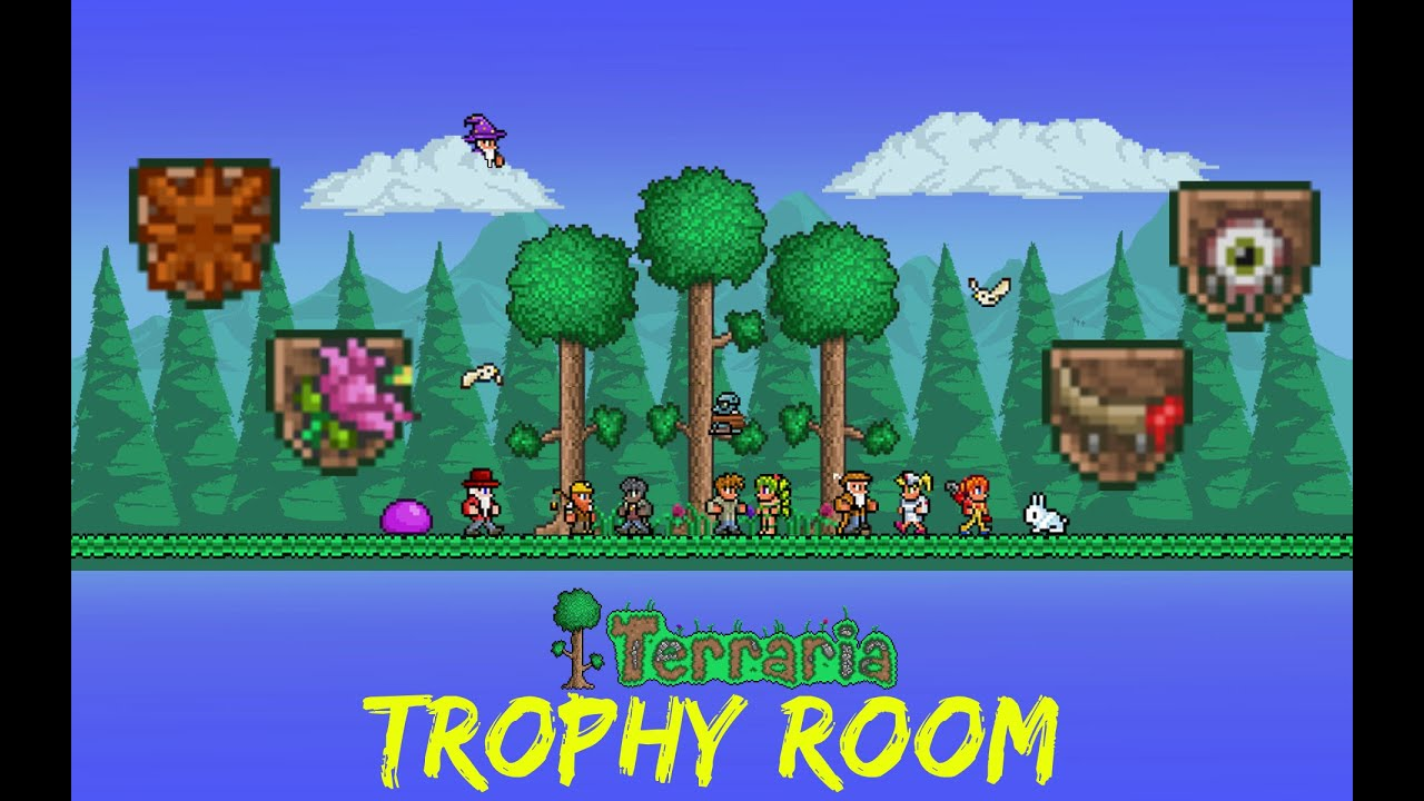 Terraria Let S Play Trophy Room 74 Youtube