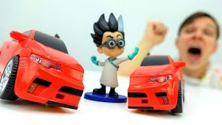 Видео для детей: Герои в масках. Фёдор и его супер #робот против РОМЕО. Видео #игрушки. Папа Тайм