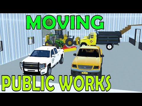 Farming Simulator 17 - Moving & Setting Up Public Works Shop