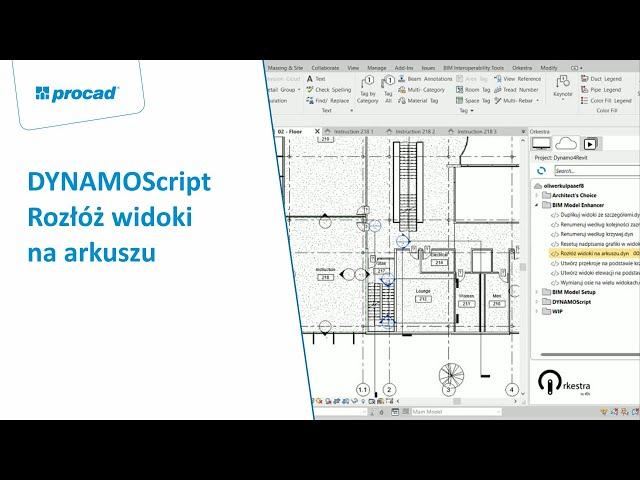 DYNAMOScript - Rozłóż widoki na arkuszu