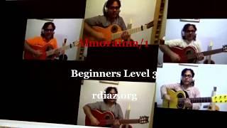 Learn Almoraima (1) falseta 1 by Paco de Lucia (beginners 3) Flamenco guitar tutorial by Ruben Diaz