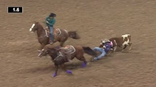 Hass & Waguespack TIE in Round 1 | NFR 2016 | Steer Wrestling thumbnail