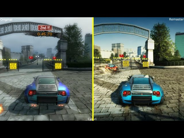 Burnout Paradise Remastered vs Original Early Graphics Comparison