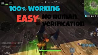 How to play fortnite android early!!! (No human verification)