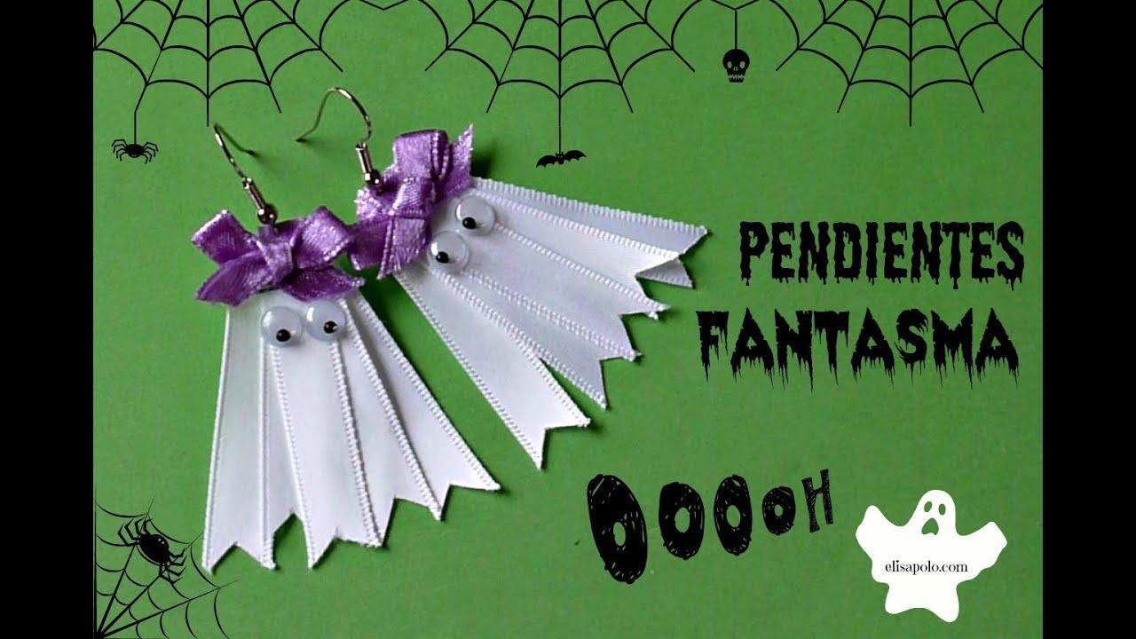 Pendientes Fantasma C 243 Mo Hacer Unos Aretes Para Halloween