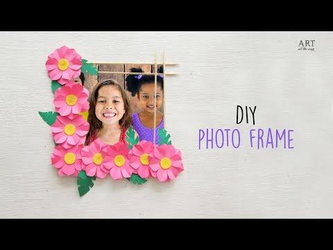 DIY Flower Photo Frame | Home Decoration Ideas | Ventuno Art