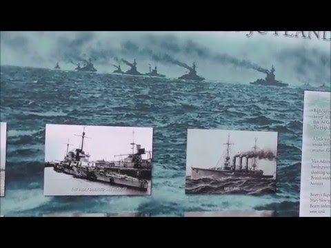 Battle of Jutland and HMS Caroline historical panels Tennent St